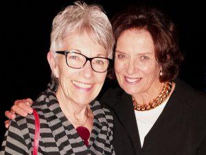 Marlene Cameron with Margaret Trudeau - mental health talks