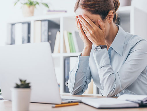 Stressed business woman needs Laser Coaching Intensive